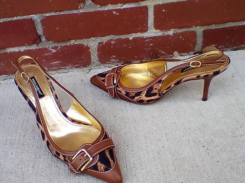 Dulce & Gabbana Animal Print Shoes, Size 7/7.5
