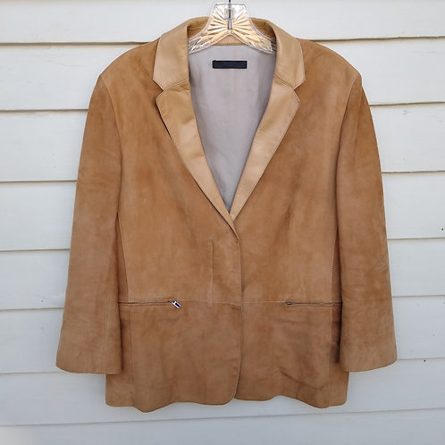 The Row Camel Suede Jacket, Size S/M