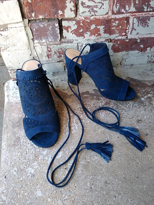 Ivanka Trump Blue Suede Shoes, Size 8.5