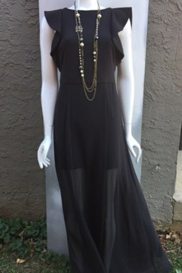 Halston Black Dress