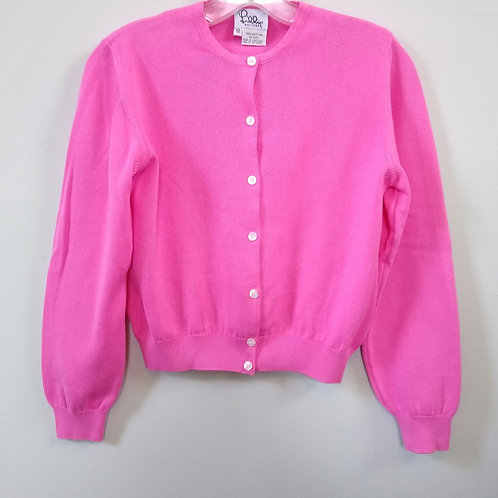 Lilly Pulitzer Pink Cardigan Sweater, Size 12
