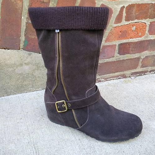 Kenneth Cole Brown Suede Boots, Size 8.5