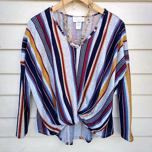 Lavender Field Multicolored Top, Size M