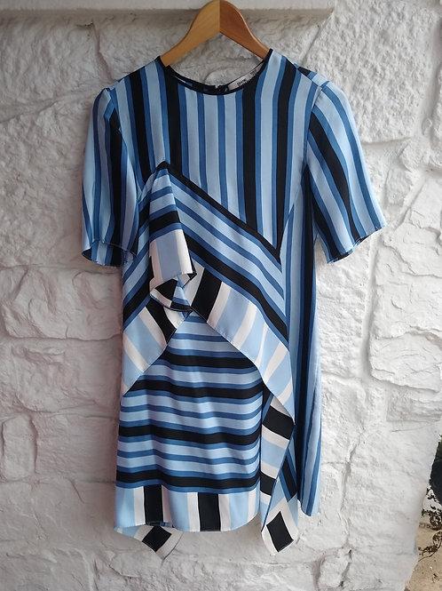 Diane von Furstenberg Blue Silk Dress, Size 0