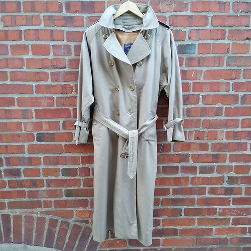 Burberry's Tan Trench with Removable Lining, Size 10