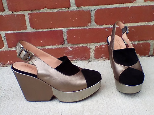 Robert Clergerie Multicolored Wedge Shoes, Size 7/7.5