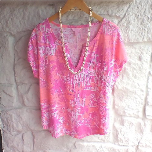Lilly Pulitzer Pink Top, Size L