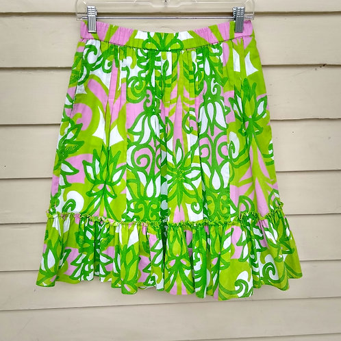 Lilly Pulitzer Green Skirt, Size XS/S
