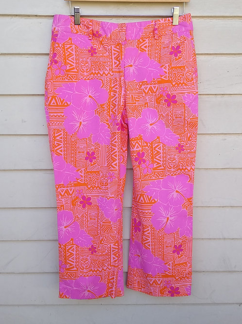 Lilly Pulitzer Pink & Orange Pants, Size 10
