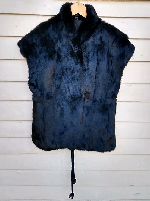 Black Rabbit Vest, Size M/L
