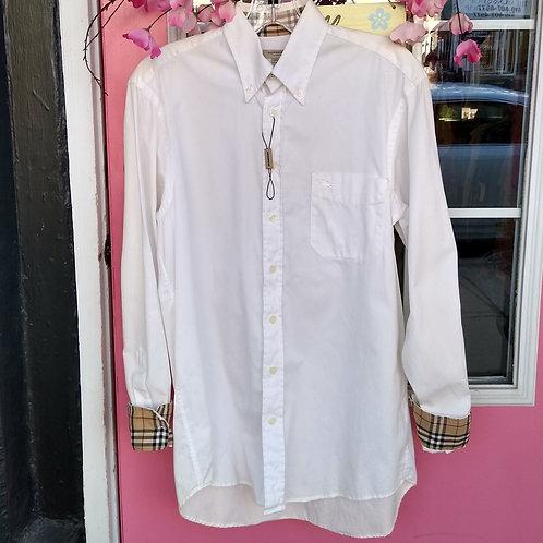 Burberry White Shirt, Size S