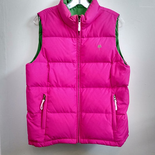 Lilly Pulitzer Pink & Green Reversible Vest, Size L