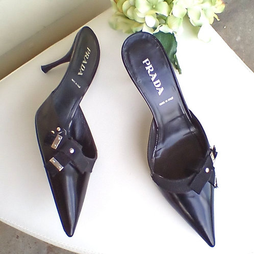 Prada Black Shoes, Size 7/7.5