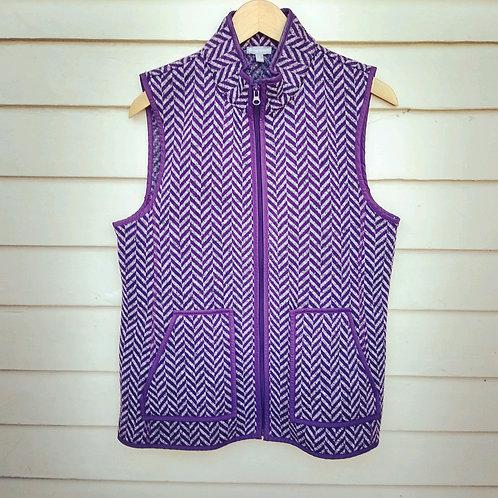 Talbots Purple Vest, Size L