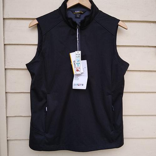 Core Quarter-Zip Black Vest, new with tags, Size M