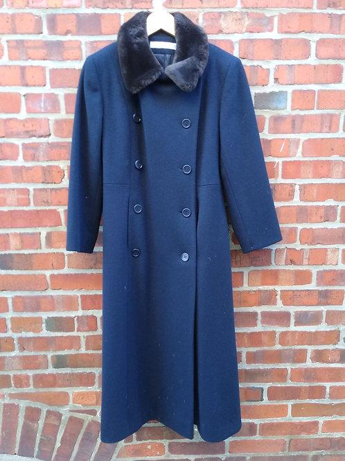 Perry Ellis Navy Coat, Size 2
