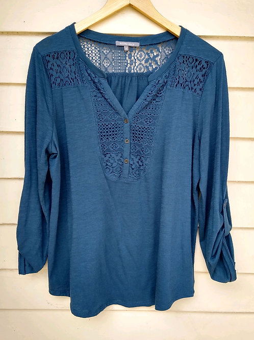 Retro-ology Slate Top, Size L
