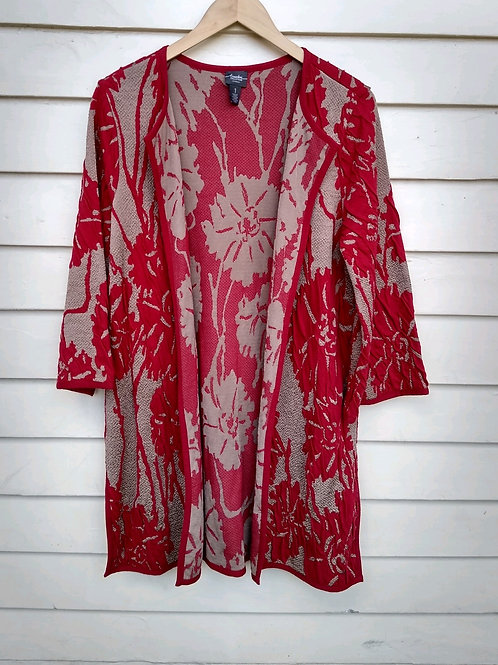 Chico's Travelers Red Wrap, Size S/M