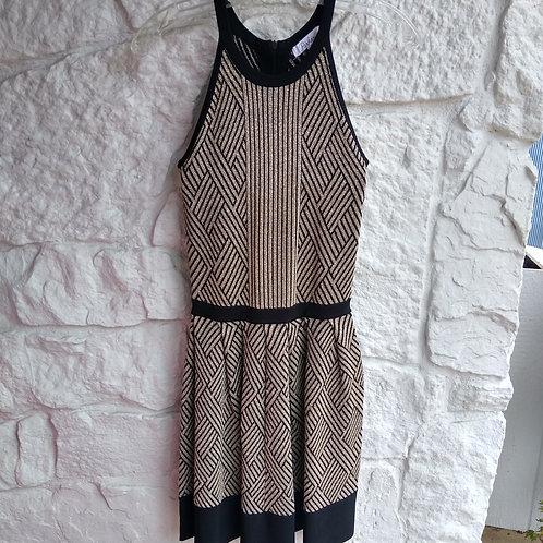 Parker Black & Gold Dress, Size XS