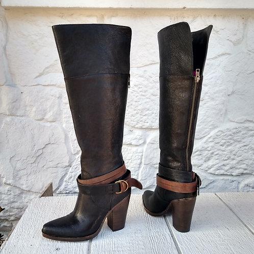 Steve Madden Black Boots, Size 6.5