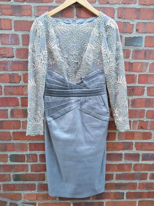 Tadashi Shoji Grey Dress, Size 8