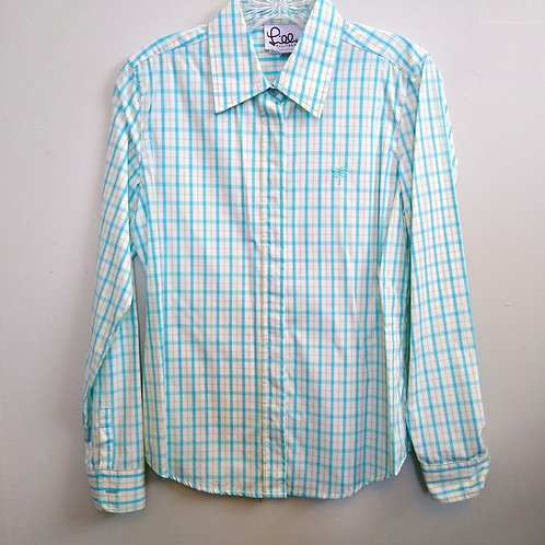 Lilly Pulitzer Turquoise Shirt, Size 2