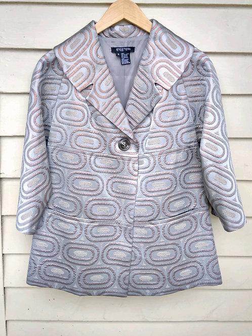 Etcetera Silver Jacket, Size 6