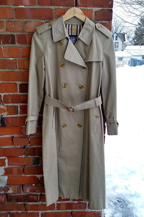Burberry's Tan Trenchcoat, Size S/M