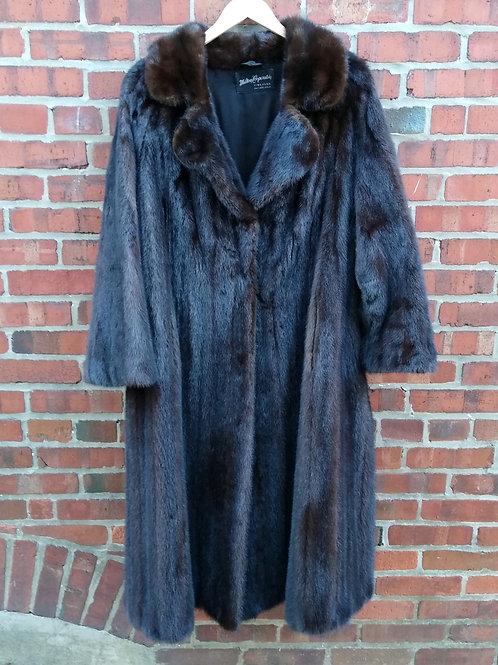 MiltonCoopersteinDark Brown Mink Coat, Size L