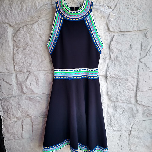 Milly Multicolored Navy Dress, Size P