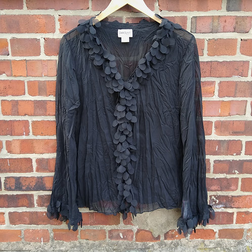 Claudia Richard Black Shirt, Size L