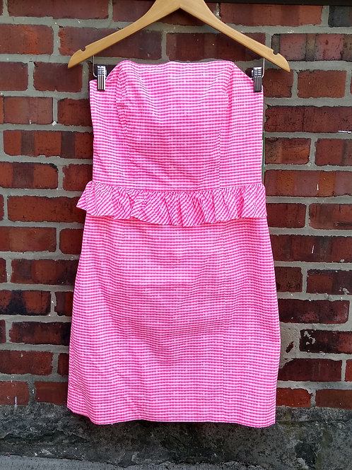 Lilly Pulitzer Fluorescent Pink Dress, new with tags, Size 8