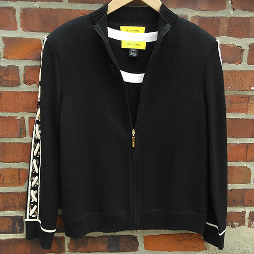 St. John Black 2pc Jacket & Shell