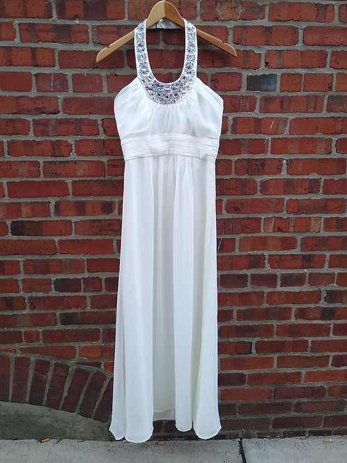 Laundry Creamy White Halter Dress, Size 2