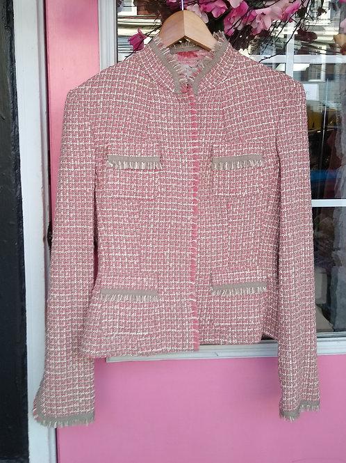 Tahari Pink Jacket, Size S