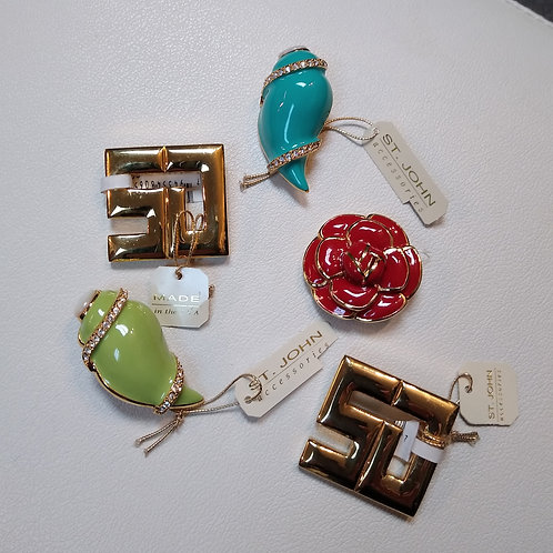St. John Pins, new with tags