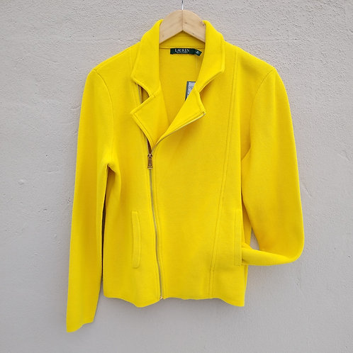 Lauren Yellow Knit Jacket, new with tags, Size L