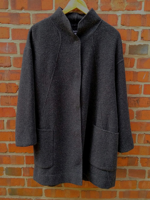 Eileen Fisher Charcoal Coat, Size M