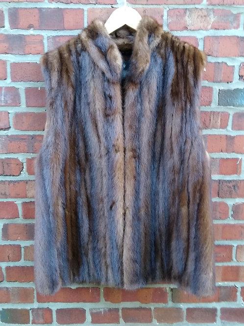 Zinman Brown Mink Vest, Size 12/14