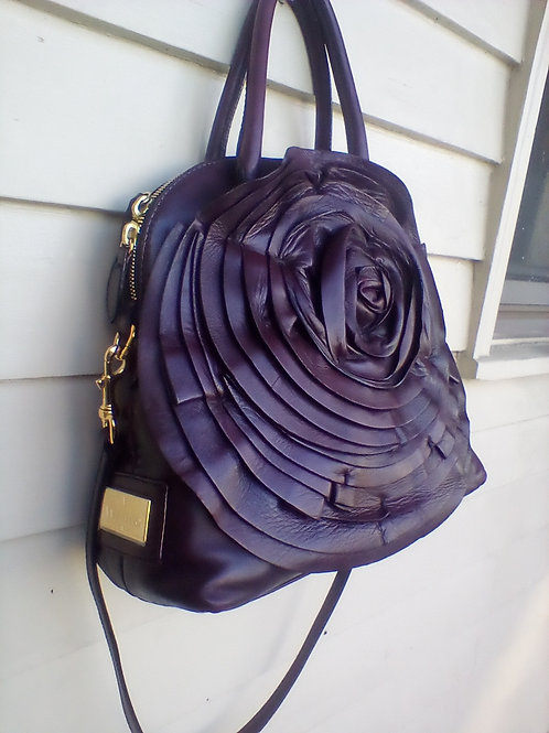 Valentino Garavino Eggplant Rose Bag ON SALE