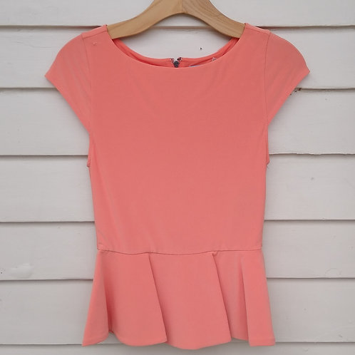 Alice + Olivia Orange Top, Size S