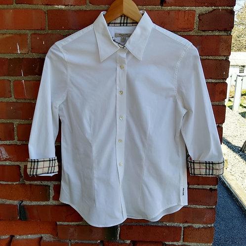 Burberry White Shirt, Size XS