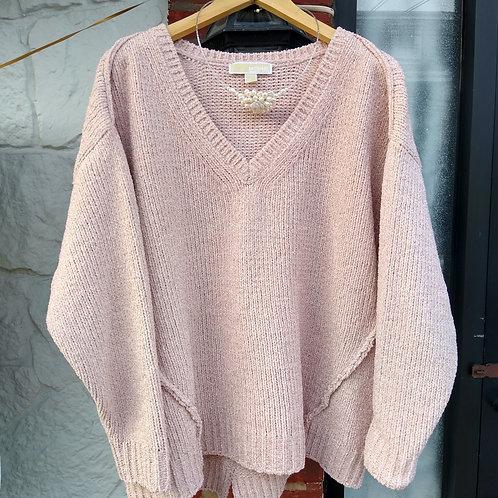 Michael Kors Pink Sparkle Sweater, Size 1X