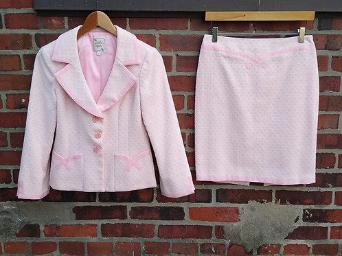 Nanette Lepore Pink Suit, Size 2