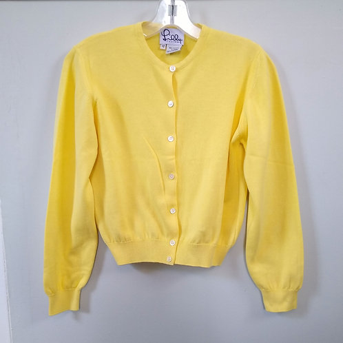 Lilly Pulitzer Yellow Cardigan Sweater, Size 12