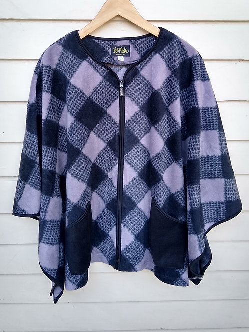 Bob Mackie Purple Fleece Cape, Size M/L