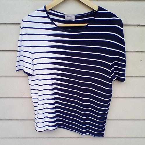 Armani Blue & White Top