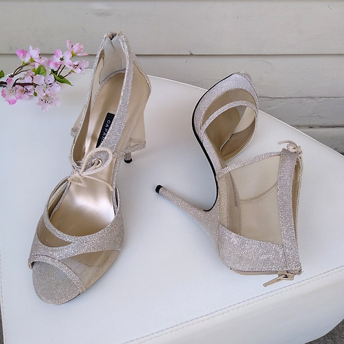Caparro Champagne Shoes, Size 7.5