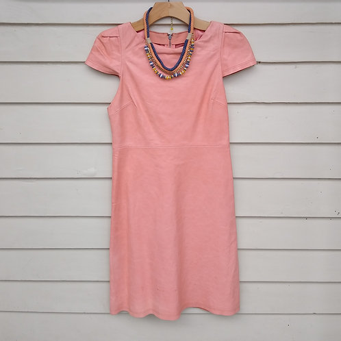 Alice + Olivia Peach Leather Dress, Size 4, $190.00