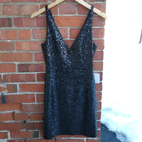 Lulus Black Sequin Dress, new with tags, Size S